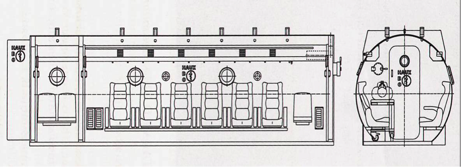 Schematic of hyperbaric chamber